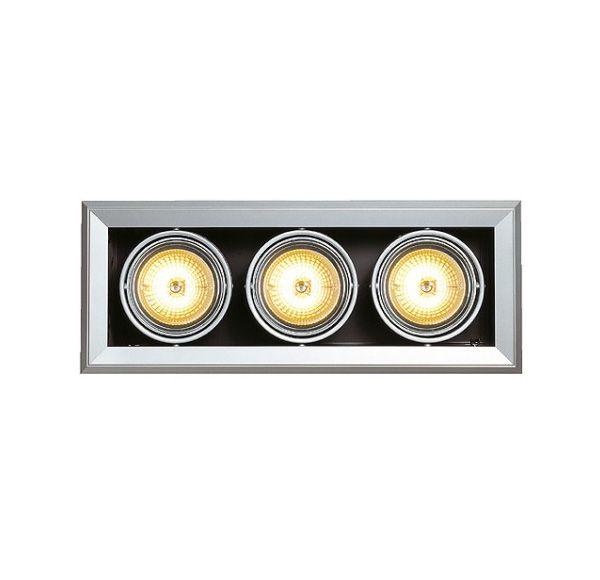 AIXLIGHT MOD 3 QRB111, inbouw armatuur, zilvergrijs max. 50W, richtbaar