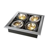 AIXLIGHT MOD 4 QRB111, inbouw armatuur, zilvergrijs max. 50W, richtbaar