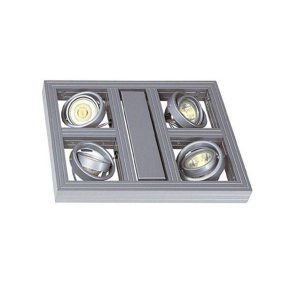 AIXLIGHT SQUARE GU10, pendel, zilvergrijs, max. 4x 50W