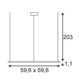 LED PANEL PD 115, vierkant, alu geanodiseerd, 96 LED, 53W, 5500K