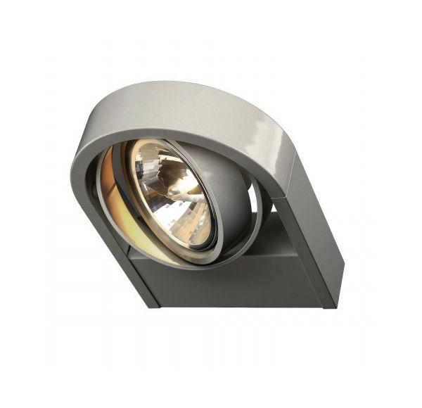 AIXLIGHT R QRB111, wand armatuur, rond, zilvergrijs, QRB111, max. 1x 50W
