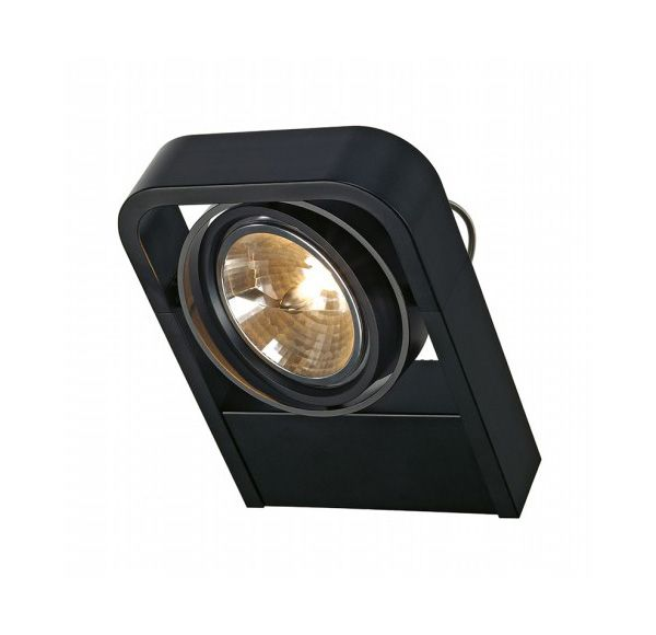 AIXLIGHT R2 QRB111, wand armatuur, half rond, zwart, QRB111, max. 1x 50W