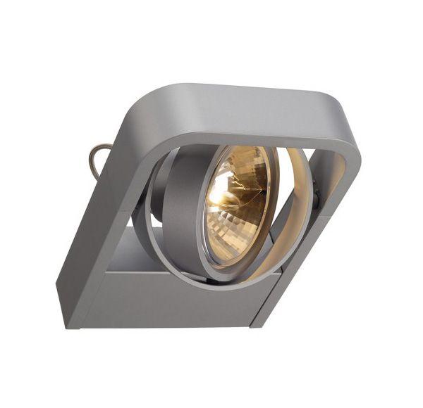 AIXLIGHT R2 QRB111, wand armatuur, half rond, zilvergrijs, QRB111, max. 1x