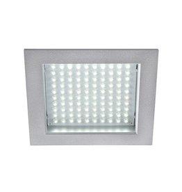 LEDPANEL 100, inbouwspot, vierkant, zilvergrijs, 8,5W, witte LED