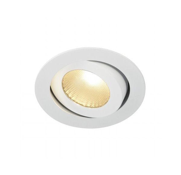 BOOST TURNO 9W, inbouwspot, richtbaar, rond, wit, 9W LED, warmwit