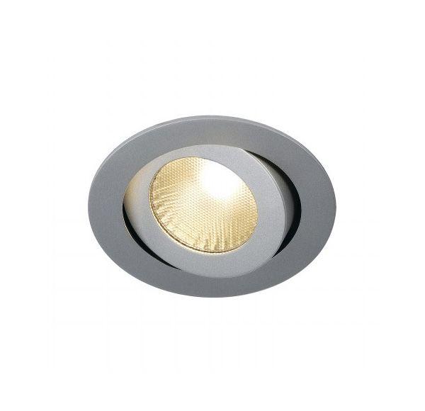 BOOST TURNO 9W, inbouwspot, richtbaar, rond, zilvergrijs, 9W LED, warmwit