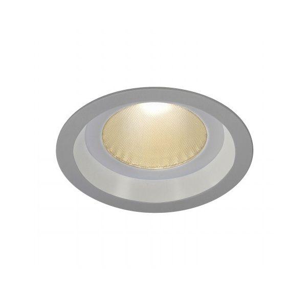 BOOST B IP44, inbouwspot, rond, zilvergrijs, 13W LED, warmwit