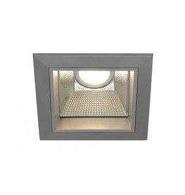 LED DOWNLIGHT PRO S, vierkant, zilvergrijs, 12W, incl. LED Disk module 800lm, 2700K