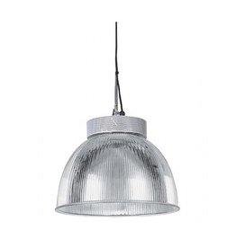 PARA MULTI 406, pendel, zilvergrijs met acrylaat kap, helder, E27, max. 160W