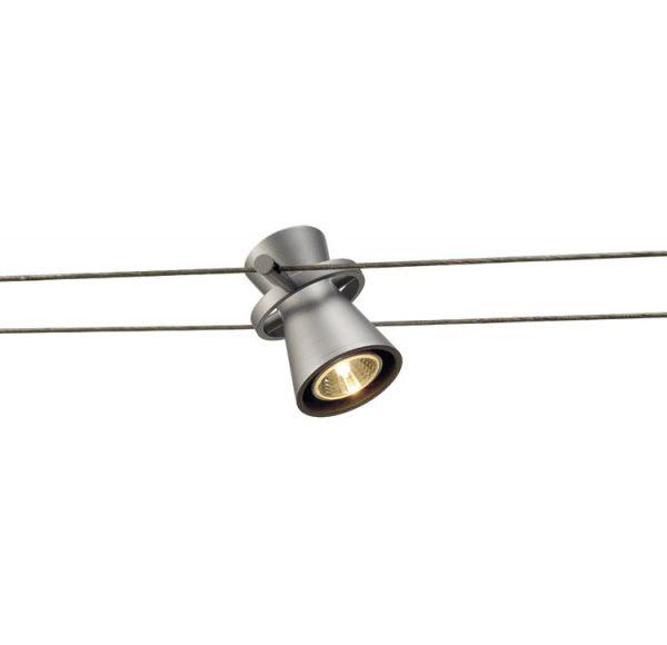 DIABO, spot voor draadsysteem, zilvergrijs, MR16, max. 35W