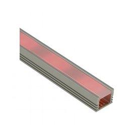 LED INBOUW PROFIEL -Frameless, alu geanodiseerd, 1m, incl. satined cover