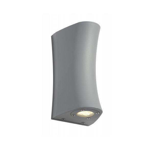 DELWA CURVE, wand armatuur, zilvergrijs, 2 spots 4x1W LED, 4000K, IP44
