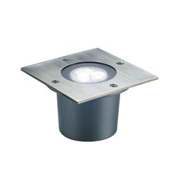 WETSY POWER LED, grondspot, vierkant, inox 316, 3x 1W, wit, IP67
