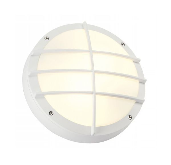 BULAN GRID, wand armatuur, rond, wit, E27, max. 2x 25W PC cover