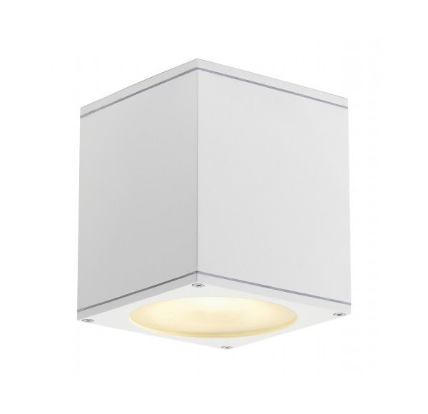 BIG THEO plafond OUT, plafond armatuur, vierkant, wit, ES111, max. 75W
