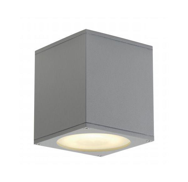 BIG THEO plafond OUT, plafond armatuur, vierkant, zilvergrijs, ES111, max. 75W