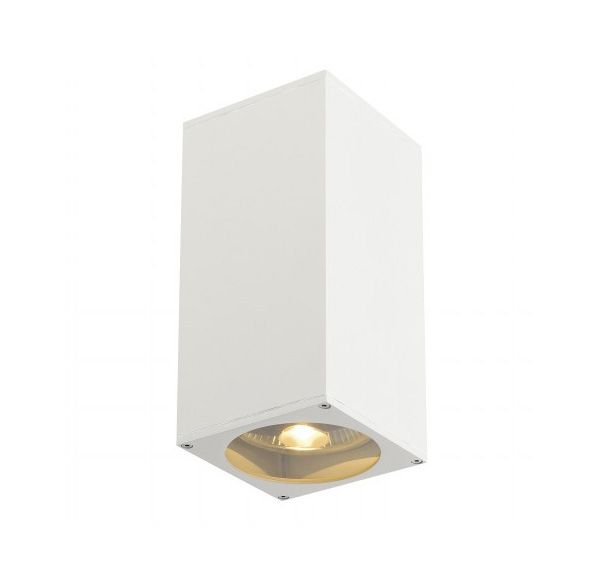 BIG THEO UP/DOWN OUT, wand armatuur, vierkant, wit, ES111, max. 2x75W