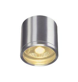 ROX CEILING OUT, plafond lamp, rond, alu-geborsteld, ES111, max. 75W