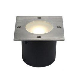 WETSY LED DISK 300, inbouw, vierkant, inox 316, voor Philips LED Disk module 7W