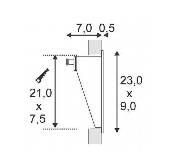 DOWNUNDER LED 15, wand armatuur, wit, 0,9W, warmwit, IP44