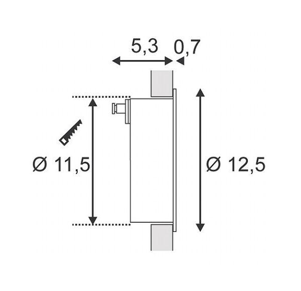 DOWNUNDER LED 27, wand armatuur, wit, 1,8W, warmwit, IP44