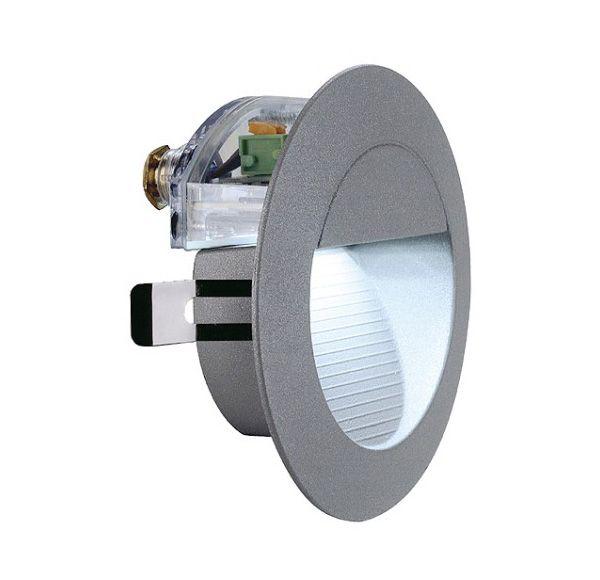 DOWNUNDER LED 14, wand armatuur, steengrijs, 0,8W, wit, IP44