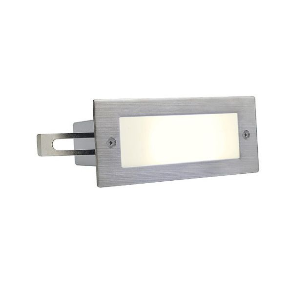 BRICK LED 16, inox 305 wand armatuur, geborsteld, 1W, warmwit, IP44