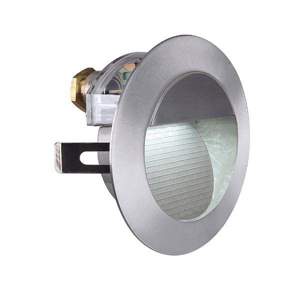 DOWNUNDER LED 14, wand armatuur, alu-geborsteld, 0,8W, wit, IP44