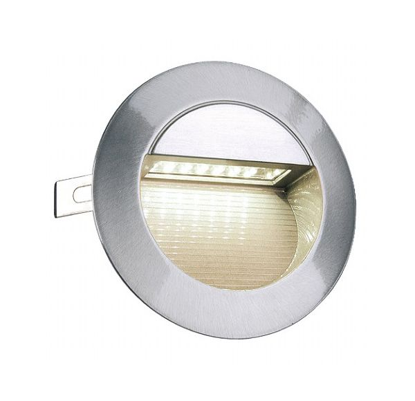 DOWNUNDER LED 14, wand armatuur, alu-geborsteld, 0,8W, warmwit, IP44