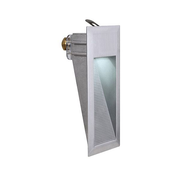 DOWNUNDER LED 15, wand armatuur, alu-geborsteld, 0,9W, wit, IP44