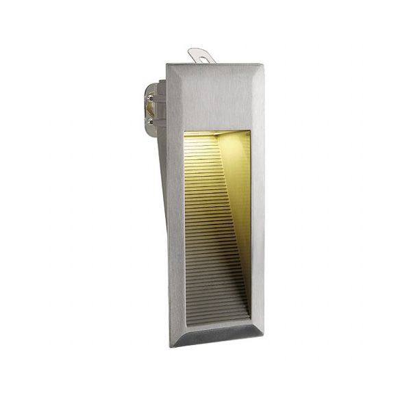 DOWNUNDER LED 15, wand armatuur, alu-geborsteld, 0,9W, warmwit, IP44