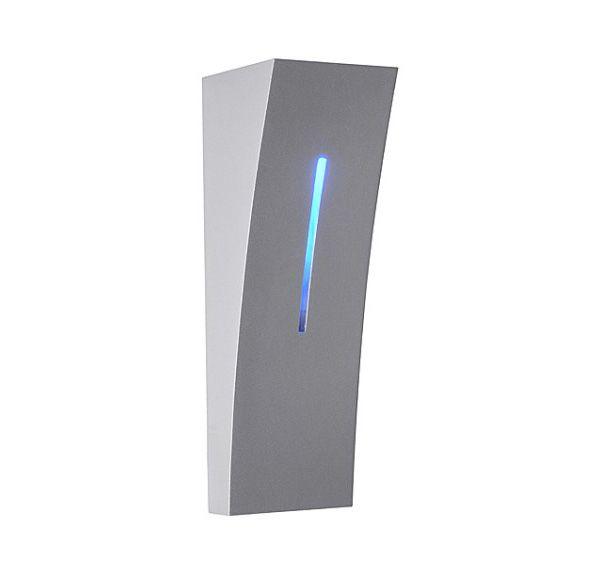 DELWA BLUE, wand armatuur, zilvergrijs, 1x5W LED 6000K, 1x1W LED blauw, IP44