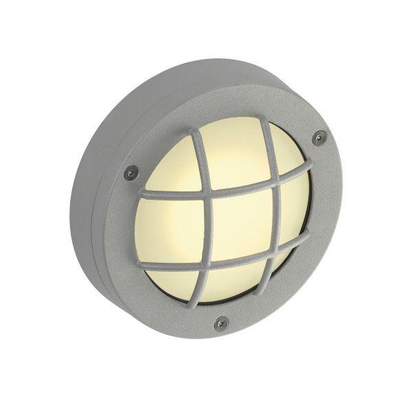 DELSIN LED, steengrijs, warmwit, gesatineerd glas, IP44