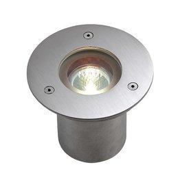 N-TIC PRO MR16, rond cover, inox 316 geborsteld, max. 35W, IP67