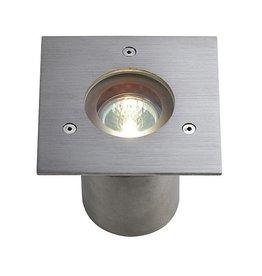 N-TIC PRO MR16, vierkante cover, inox 316 geborsteld, max. 35W, IP68