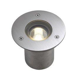 N-TIC PRO GU10, inbouw spot, rond, inox 316 geborsteld, max. 35W, IP67