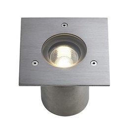 N-TIC PRO GU10, inbouw spot, vierkant, inox 316 geborsteld, max. 35W, IP67