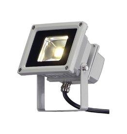 LED OUTDOOR BEAM, zilvergrijs, 10W, warmwit, 100°, IP65