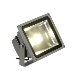 LED OUTDOOR BEAM, zilvergrijs, 30W, warmwit, 100°, IP65