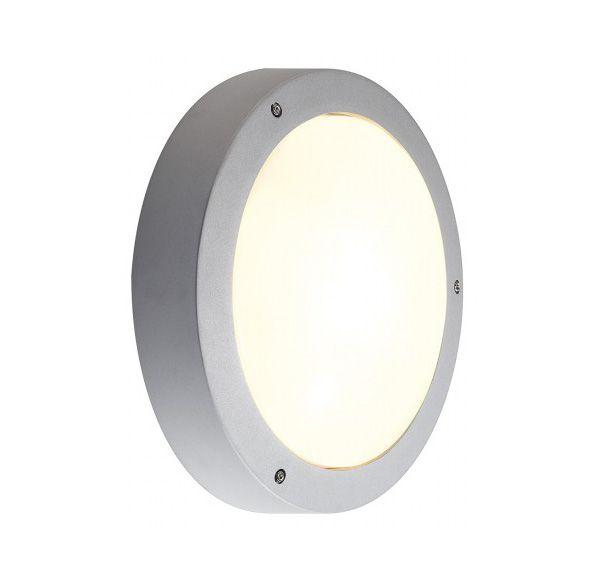 DRAGAN SENSOR wand en plafondlamp, zilvergrijs, E27, max. 2x24W, IP44, met sensor