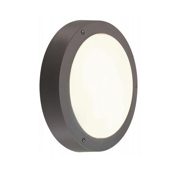 DRAGAN SENSOR wand en plafondlamp, antraciet, E27, max. 2x24W, IP44, met sensor