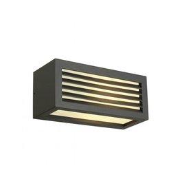 BOX-L E27, wand armatuur, vierkant, antraciet, E27, max. 18W