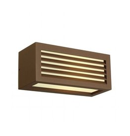 BOX-L E27, wand armatuur, vierkant, koper-roest, E27, max. 18W