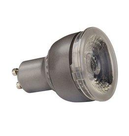 GU10 COB LED lichtbron, 6W, 3000K, 36gr, dimbaar