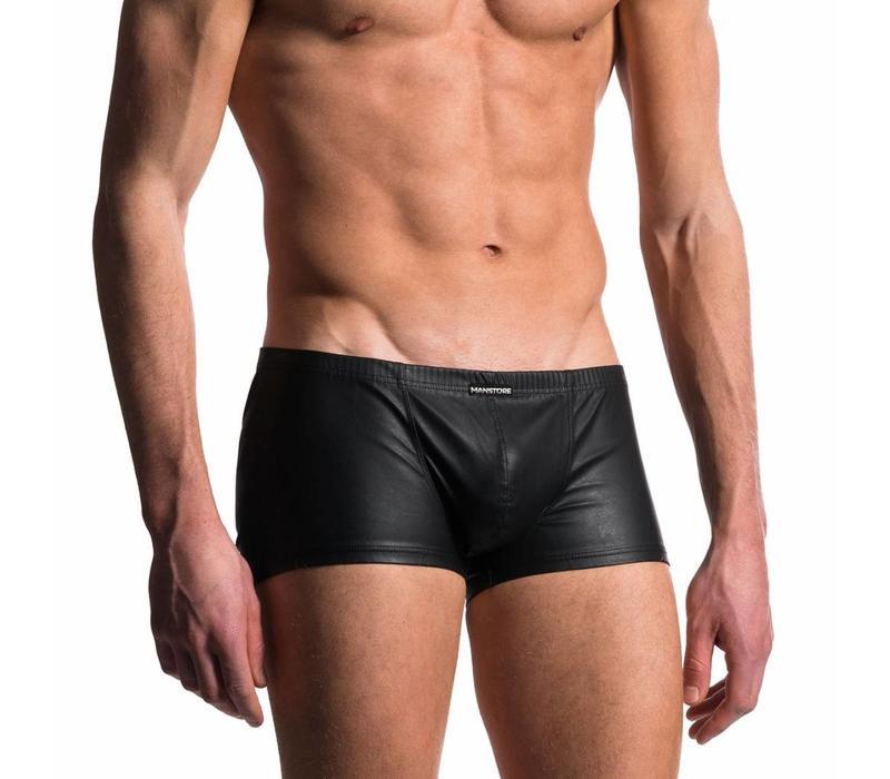 Korte boxer Leder Look <zwart>