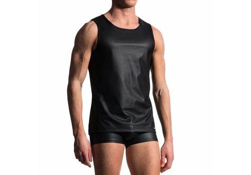 Manstore Slim Tank Leather-Look <zwart> - Manstore 104*