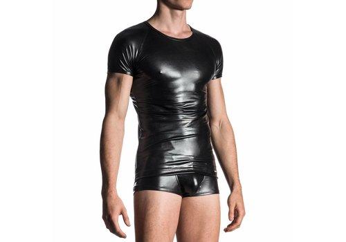Manstore Brando Shirt Wet Look <zwart> - Manstore 107