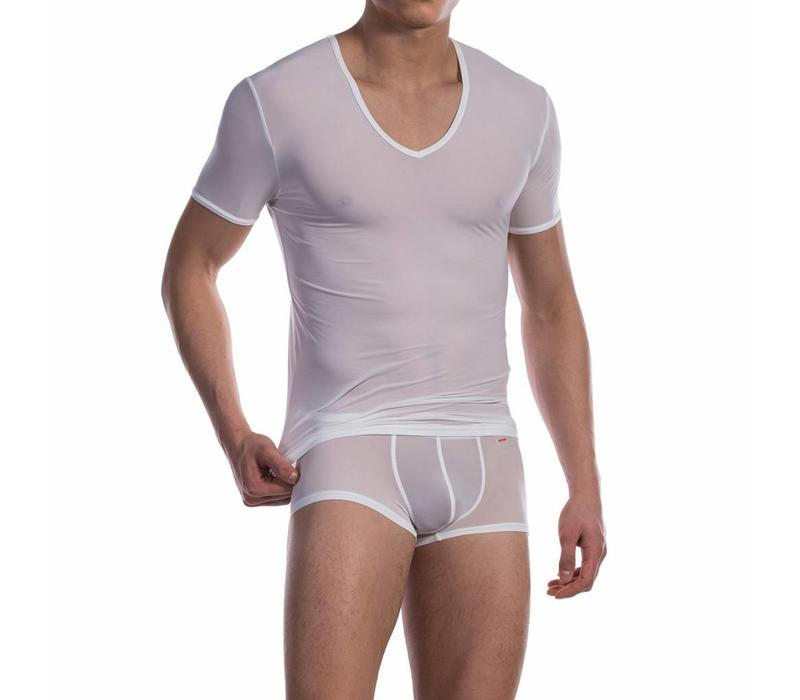 Phantom V-shirt ultra stretch <wit>