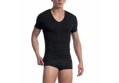 Olaf Benz  V-shirt ultra stretch <zwart> - Olaf Benz Phantom