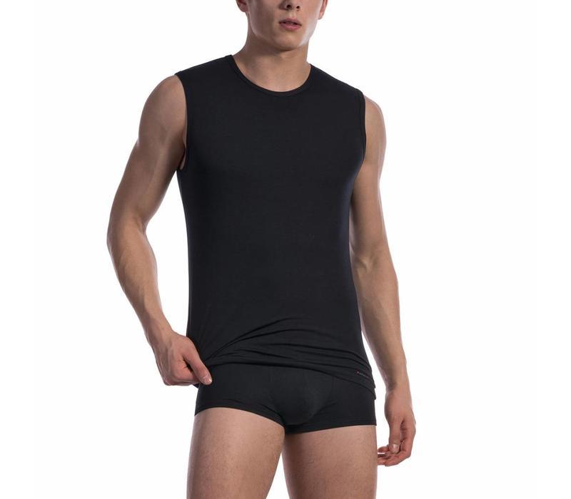 College shirt (katoen) <zwart>
